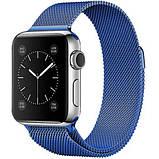 Миланский сетчатый браслет Milanese Loop Band for Apple Watch 38/40 mm blue, фото 2