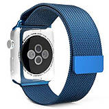 Миланский сетчатый браслет Milanese Loop Band for Apple Watch 38/40 mm blue, фото 3