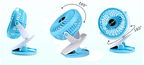 Вентилятор Mini fan ML-F168 с прищепкой, фото 2