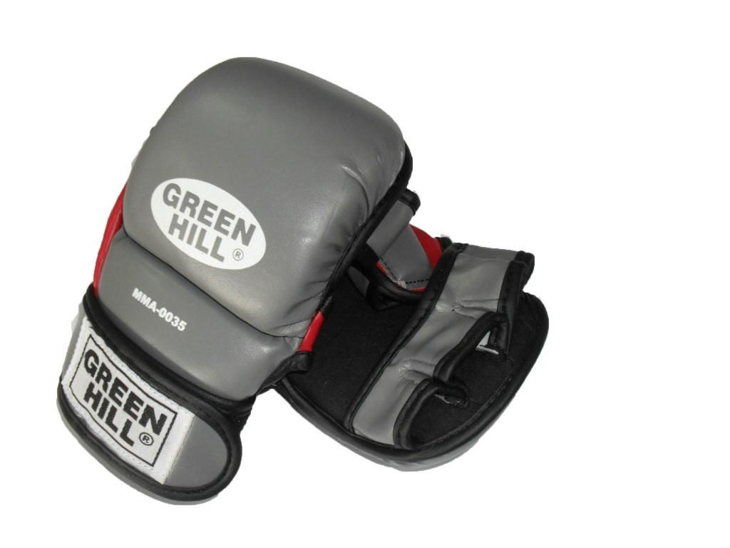 """Перчатки для ММА """"0035"""" Green Hill"""