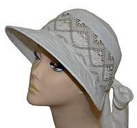 Шляпа женская Лиза кружева канва