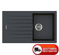 Гранитная мойка Apell Pietra Plus PTPL861GB BLACK GRANIT 86*50