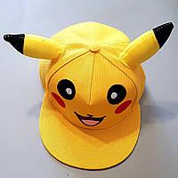 Бейсболка Пикачу кепка блайзер Покемон шапка