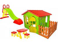 Домик для ребёнка + горка 187 + столик и табуретки, фото 1