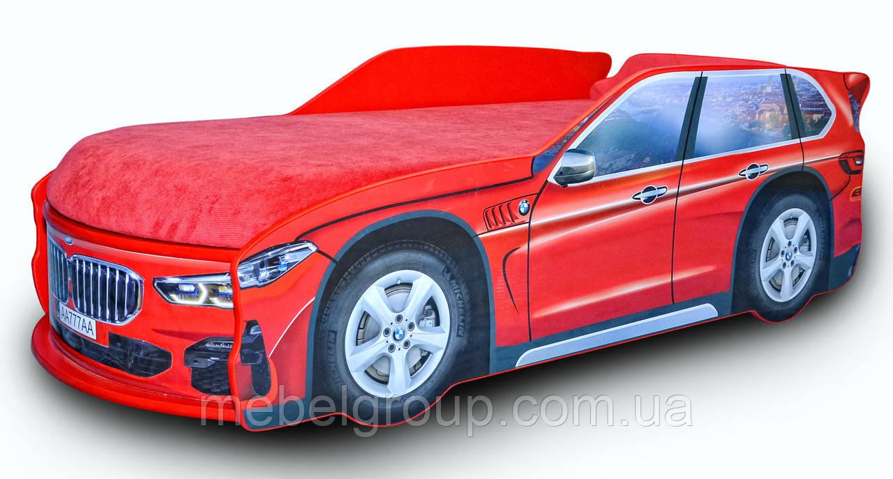 Кровать машина БМВ X5 красная