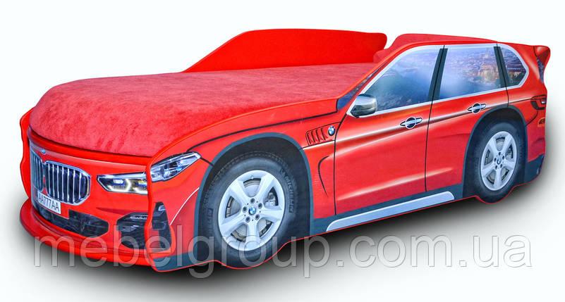 Кровать машина БМВ X5 красная, фото 2