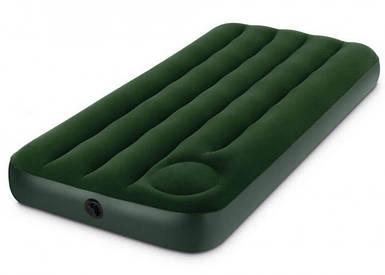 Надувной матрас Intex 66950 (76х193х22 см) с встроенным ножным насосом.