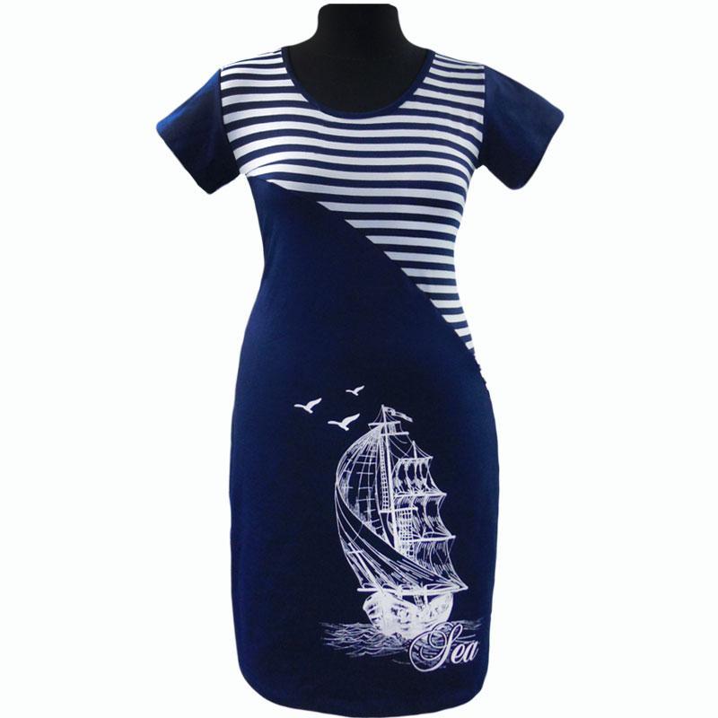 Платье полоска с вискозы с изображением