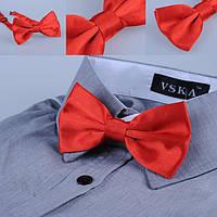 Бабочка галстук атлас красная
