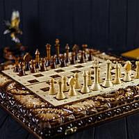Шахматы-нарды ексклюзивной ручной работы, компактные