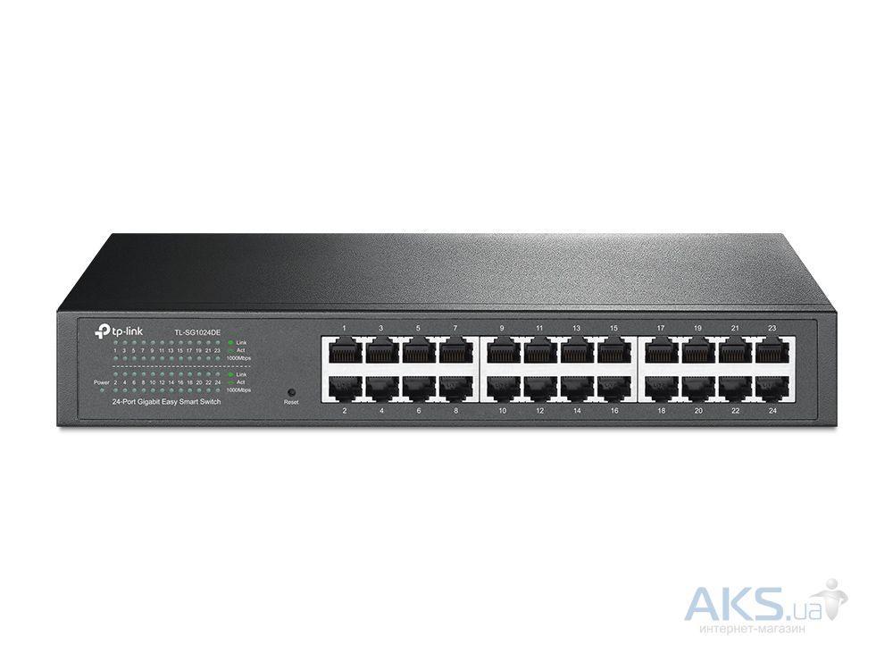 Коммутатор (свитч) TP-Link TL-SG1024DE (24х10/100/1000 Мбит, металл, easysmart)