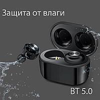 Беспроводные наушники блютуз наушники bluetooth гарнитура Wi-pods A6 TWS бокс для зарядки лучше AirPods черные