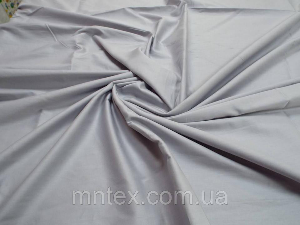 Ткань для пошива постельного белья сатин гладкокрашеный Серебро