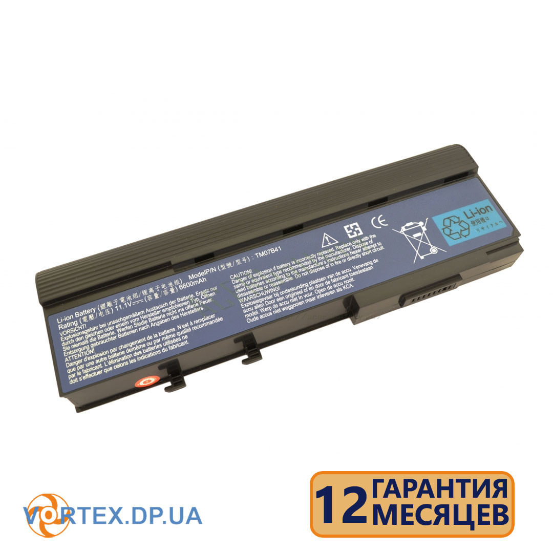 Батарея для ноутбука Acer Aspire 2920, 3620, 5560, Extensa 4130, 4220, 4230, 4630 (BTP-ARJ1) 11.1V 4400mAh черная новая