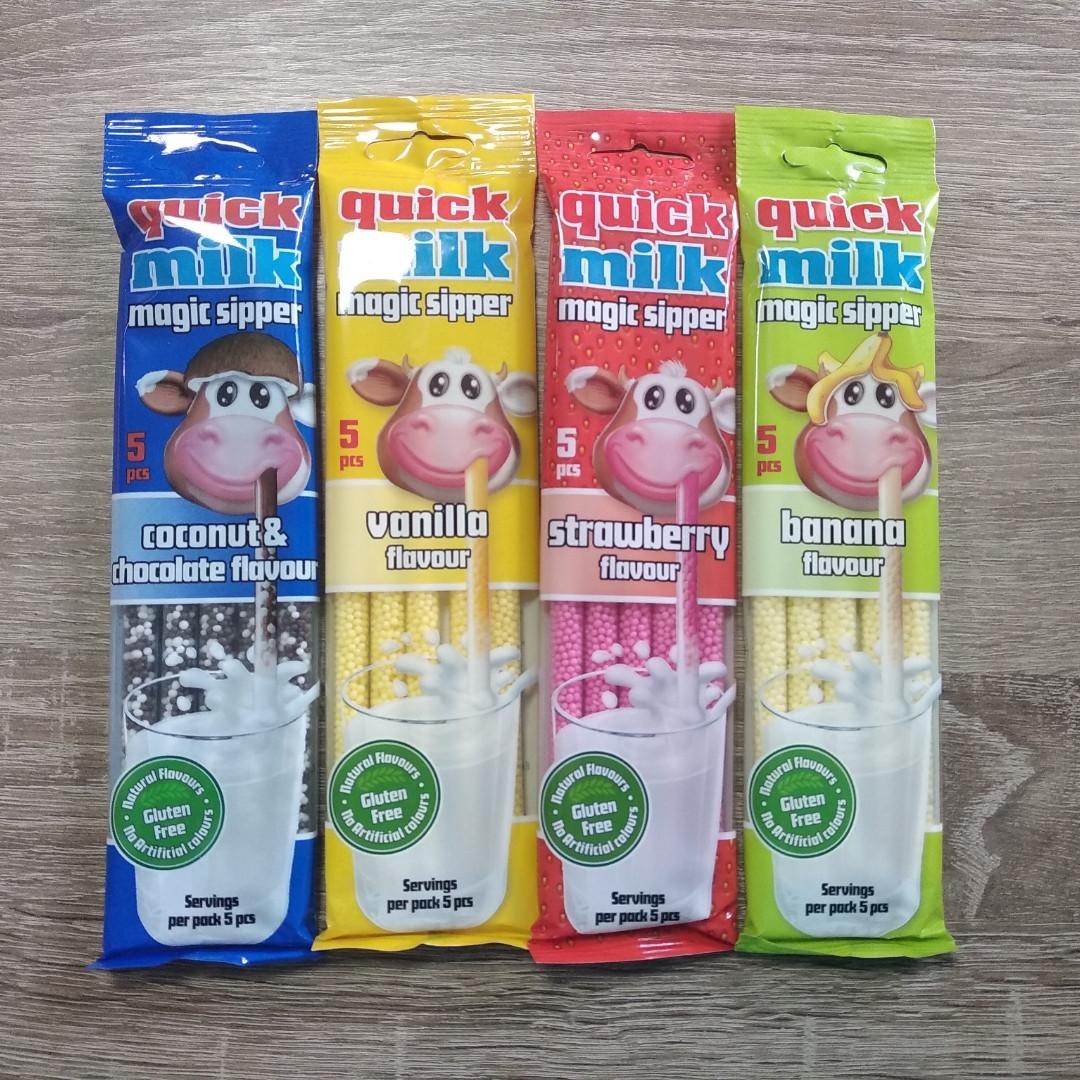 Молочні трубочки Квік Мілк / QUICK MILK 5 шт.
