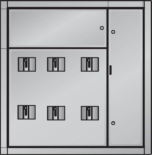 Корпус щита этажного на 8 квартир