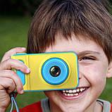 Детский цифровой фотоаппарат синий Smart Kids Camera Blue, фото 5