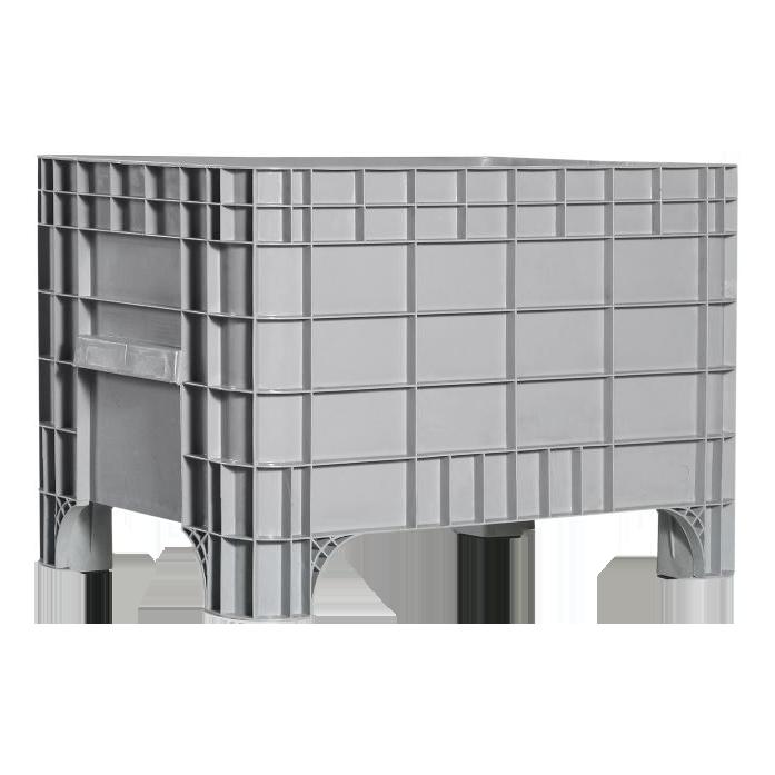 Пластиковый контейнер 930 х 590 х 515 пищевой 270 л без колес серый Kayalarplastik