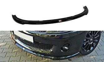 Диффузор переднего бампера накладка тюнинг губа Renault Clio 3 RS рестайл
