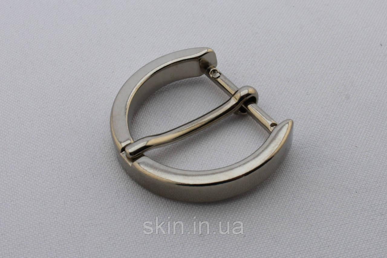 Пряжка ременная, ширина - 25 мм, цвет - никель, артикул СК 5482