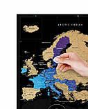 Скретч-карта Європи Travel Map ™ Black Europe, фото 2