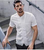 Рубашка мужская с коротким рукавом белая, фото 1