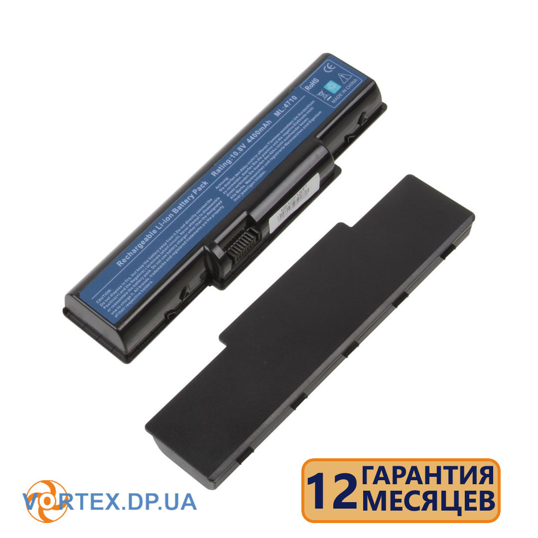Батарея для ноутбука Acer Aspire 4230, 4310, 4330, 4520, 4530, 4920, 4930, 5334, 5536, 5738, 5338, 5737 (AS07Axx) 11.1v 4400mAh черная новая