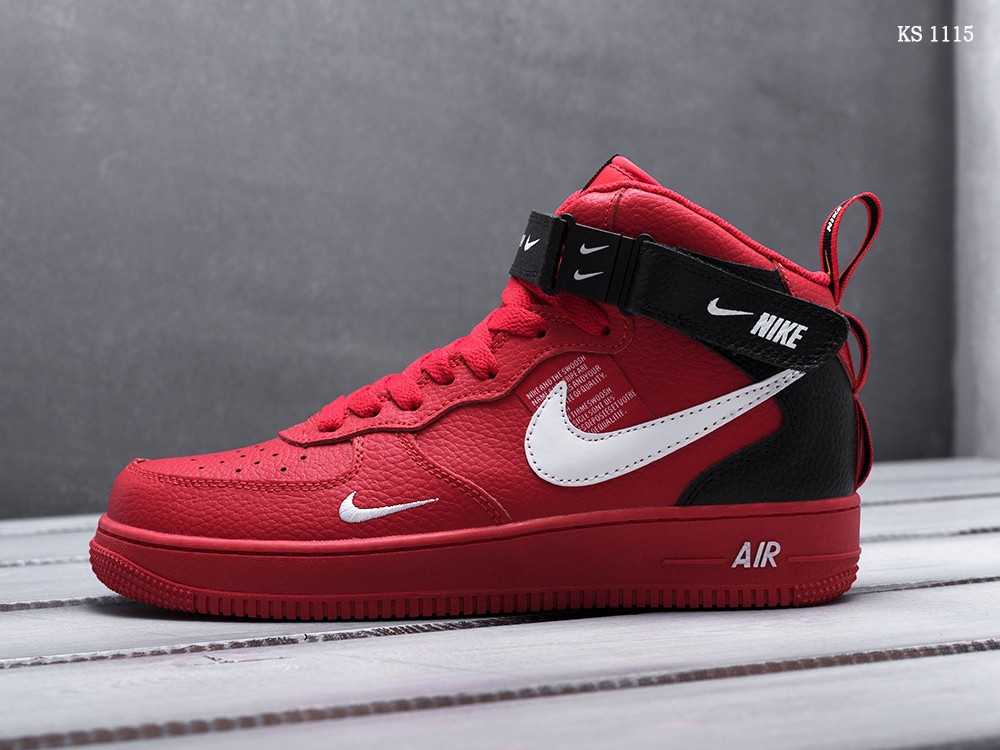 Чоловічі кросівки Nike Air Force 1 07 Mid LV8 (червоні)