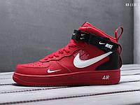 Мужские кроссовки Nike Air Force 1 07 Mid LV8 (красные)