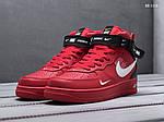 Чоловічі кросівки Nike Air Force 1 07 Mid LV8 (червоні), фото 3