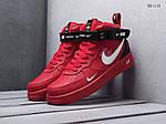Чоловічі кросівки Nike Air Force 1 07 Mid LV8 (червоні), фото 5