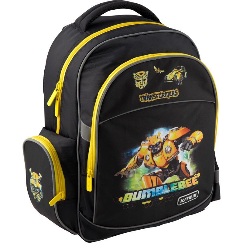 Рюкзак школьный Kite Education для мальчиков Transformers BumbleBee Movie 37,5x29x13 см 13,5 л (TF19-510S)