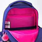 Рюкзак школьный Kite Education для девочек Fluffy bunny 37,5х29х13 см 11,5 л (K19-521S), фото 6