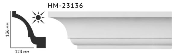 Карниз потолочный гладкий Classic Home HM-23136 , лепной декор из полиуретана