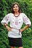 Женская вышитая блуза с геометрическим орнаментом Ж06-212
