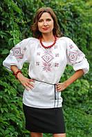 Женская вышитая блуза с геометрическим орнаментом Ж06-212, фото 1