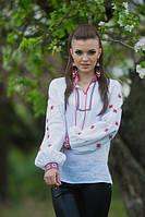 Женская вышитая блуза в современном стиле с пышными рукавами Ж25-212, фото 1
