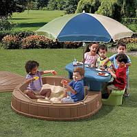 Детская Песочница со Столиком и Зонтиком Step2