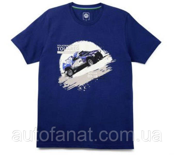 Оригинальная мужская футболка Volkswagen Motorsport T-Shirt, Race Touareg, Men's, Blue (5NG084200A530)