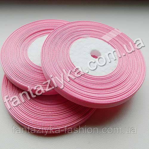 Репсовая лента тонкая 0,6 см, светло-розовая