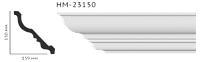 Карниз потолочный гладкий Classic Home HM-23150 , лепной декор из полиуретана