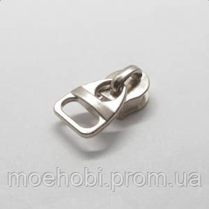 Бегунок сумочный на спираль и металл №5 никель, 50шт 5307