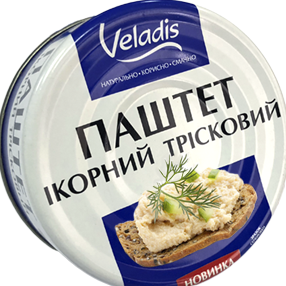 Паштет икорный тресковый 100 грамм ТМ Veladis
