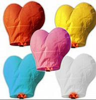 Небесные фонарики в форме сердца 34х85 см
