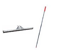 Швабра сгон воды для пола 55 см с резиновой насадкой и металической ручкой держателем