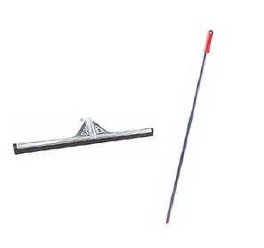 Швабра зганяння води для підлоги 55 см з гумовою насадкою і металевої ручкою держателем