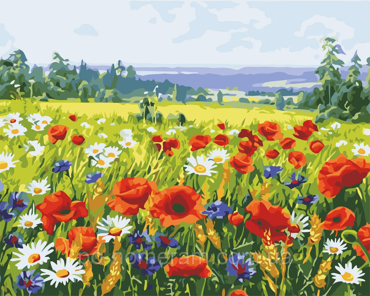картина по номерам поле цветов As0546 40 х 50 см Artstory
