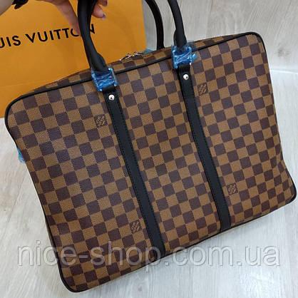 Сумка для документов и ноутбука Louis Vuitton, кожа+ канва, фото 3