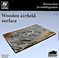 Подставка для моделей. Тема: Деревянная аэродромная поверхность