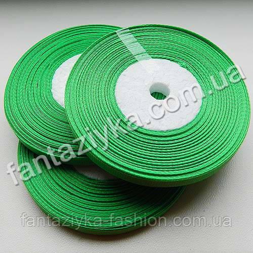 Репсовая лента тонкая 0,6 см, светло-зеленая